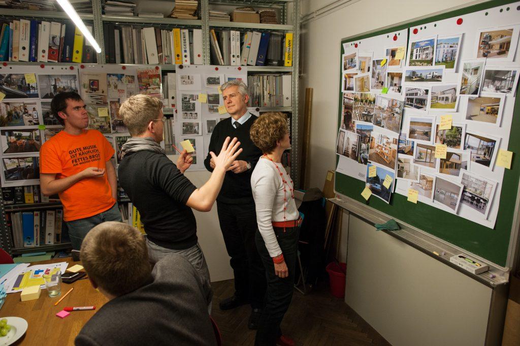 Planungsphase mit dem Architekturteam